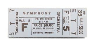 Biglietto della sinfonia immagine stock