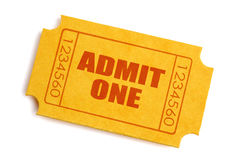 Biglietto di ammissione Fotografie Stock