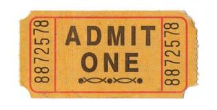 Biglietto di ammissione dell'annata immagine stock