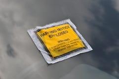 Biglietto di applicazione di parcheggio Fotografia Stock
