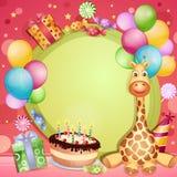 Biglietto di auguri per il compleanno Fotografia Stock