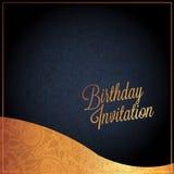 Biglietto di auguri per il compleanno con progettazione di vettore del fondo Fotografie Stock