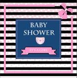 biglietto di auguri per il compleanno della neonata Immagini Stock Libere da Diritti