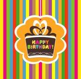 Biglietto di auguri per il compleanno felice Fotografie Stock