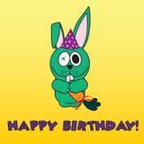 Biglietto di auguri per il compleanno felice Royalty Illustrazione gratis
