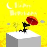 Biglietto di auguri per il compleanno felice Immagine Stock Libera da Diritti