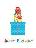 Biglietto di auguri per il compleanno felice Fotografie Stock Libere da Diritti