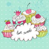 Biglietto di auguri per il compleanno felice divertente Royalty Illustrazione gratis