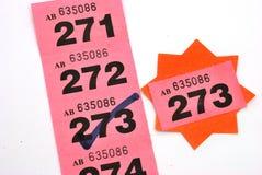 Biglietto di conquista di raffle immagini stock libere da diritti