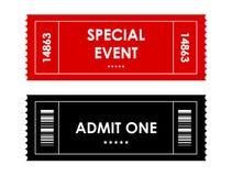 Biglietto di evento Immagini Stock
