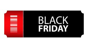 Biglietto di evento speciale di Black Friday illustrazione di stock