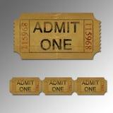 Biglietto di film Immagini Stock