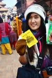 Biglietto di ingresso tailandese di manifestazione di fotografia del quadrato di Patan Durbar Fotografie Stock