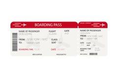 Biglietto di linea aerea Passaggio di imbarco con la siluetta dell'aeroplano su fondo bianco royalty illustrazione gratis
