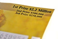 Biglietto di lotteria fotografie stock libere da diritti