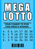 Biglietto di lotteria Immagine Stock