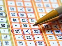 Biglietto di lotteria Immagine Stock Libera da Diritti