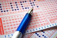 Biglietto di lotteria fortunato Fotografie Stock Libere da Diritti