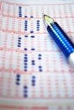Biglietto di lotteria fortunato Fotografia Stock Libera da Diritti