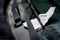 Biglietto di parcheggio Fotografia Stock