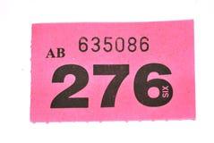 Biglietto di Raffle immagini stock libere da diritti