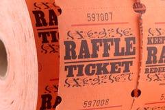 Biglietto di Raffle fotografie stock libere da diritti