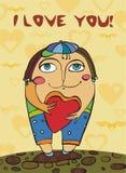 Biglietto di S. Valentino 3 Fotografia Stock Libera da Diritti