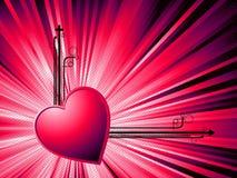 Biglietto di S. Valentino astratto Fotografia Stock Libera da Diritti