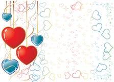 Biglietto di S. Valentino Background1 illustrazione di stock