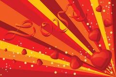 Biglietto di S. Valentino background2 Fotografia Stock Libera da Diritti