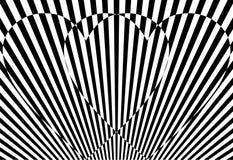 Biglietto di S. Valentino in bianco e nero Fotografie Stock Libere da Diritti