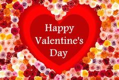 Biglietto di S. Valentino \ 'carta felici di giorno di s Fotografia Stock