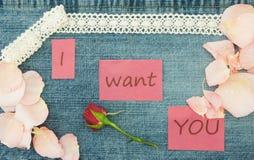 Biglietto di S. Valentino, cartolina d'auguri con tricottare le coppie nell'amore, poco con riferimento a Immagine Stock