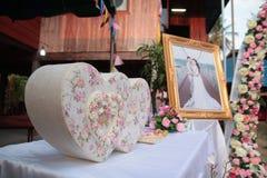 Biglietto di S. Valentino, cerimonia di nozze Fotografie Stock Libere da Diritti