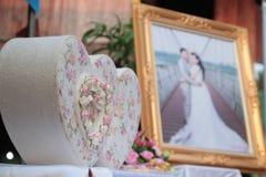 Biglietto di S. Valentino, cerimonia di nozze Fotografie Stock