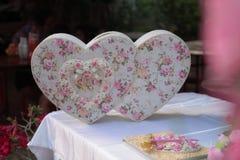 Biglietto di S. Valentino, cerimonia di nozze Fotografia Stock Libera da Diritti