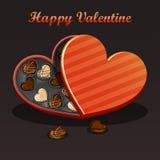 Biglietto di S. Valentino-cioccolato Fotografia Stock