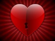 Biglietto di S. Valentino con grande cuore Immagini Stock