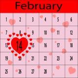 Biglietto di S. Valentino con i piccoli cuori Immagine Stock