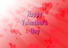 Biglietto di S. Valentino con splendere leggero Fotografia Stock
