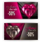 Biglietto di S. Valentino del buono di regalo Fotografie Stock