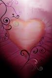 Biglietto di S. Valentino del cuore Fotografia Stock