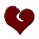 Biglietto di S. Valentino del cuore del bambino e della madre Fotografia Stock