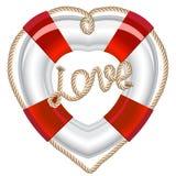 Biglietto di S. Valentino del cuore della fascia di vita Immagine Stock