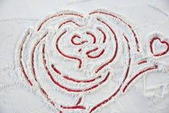 Biglietto di S. Valentino del cuore per il giorno felice Fotografie Stock Libere da Diritti