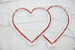 Biglietto di S. Valentino del cuore per il giorno felice Fotografia Stock Libera da Diritti