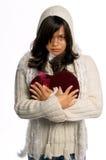 Biglietto di S. Valentino del cuore rotto immagini stock libere da diritti