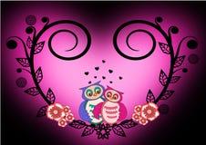 Biglietto di S. Valentino del gufo Fotografie Stock