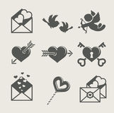 Biglietto di S. Valentino del san \ \ \ 'icona stabilita di giorno di s Immagini Stock Libere da Diritti
