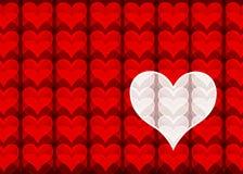 Biglietto di S. Valentino della discoteca Fotografia Stock Libera da Diritti